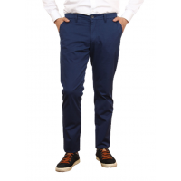 Men's casual trousers in dark blue. TRUVOR TM