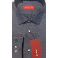Fitted shirt, grey,