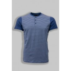 Blue t-shirt with turquoise stripes TM GROSTYLE