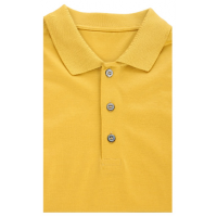 Mustard-colored Polo shirt made of 100% mercerized cotton TM TRUVOR