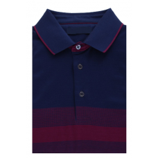 Combined Polo shirt; dark blue color made of 100% cotton TM DOVMONT