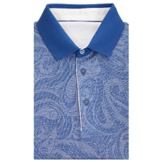 Combined Polo shirt; blue color made of 100% cotton TM DOVMONT