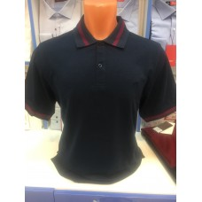 Combined dark blue Polo shirt made of 100% cotton TM John Jeniford