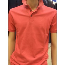 Coral-colored Polo shirt made of 100% mercerized cotton TM COLLETTO BIANCO