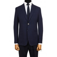 Fitted jacket in dark blue Truvor Classic