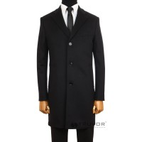 Men's coat made of pure wool and cashmere