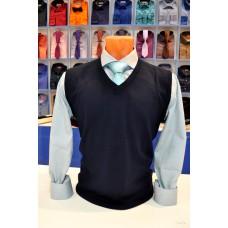 Truvor dark blue wool vest
