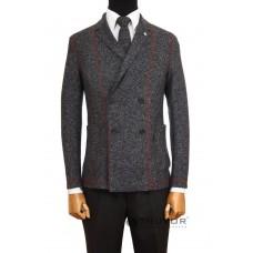 Grey knitted jacket Truvor