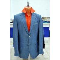 Light jacket made of natural blue fabric Truvor City