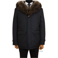 Winter jacket with a fringe of raccoon fur TM TRUVOR