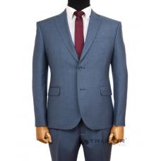 Men's classic suit, blue - gray Truvor classic