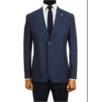 Men's suit fitted from cotton, jacket without lining  Truvor CITY CASUAL