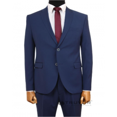 Men's fitted suit, bright blue, Truvor classic